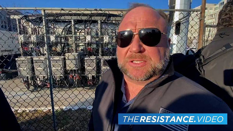 Alex Jones Discovers Alien 5G Device
