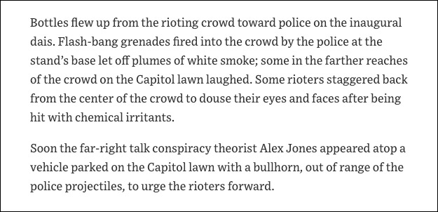 WSJ Retracts False Claim Alex Jones Led Siege on US Capitol