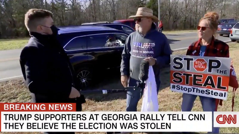 CNN Shocked When Trump Supporters Say They'll NEVER Accept Basement Biden As President