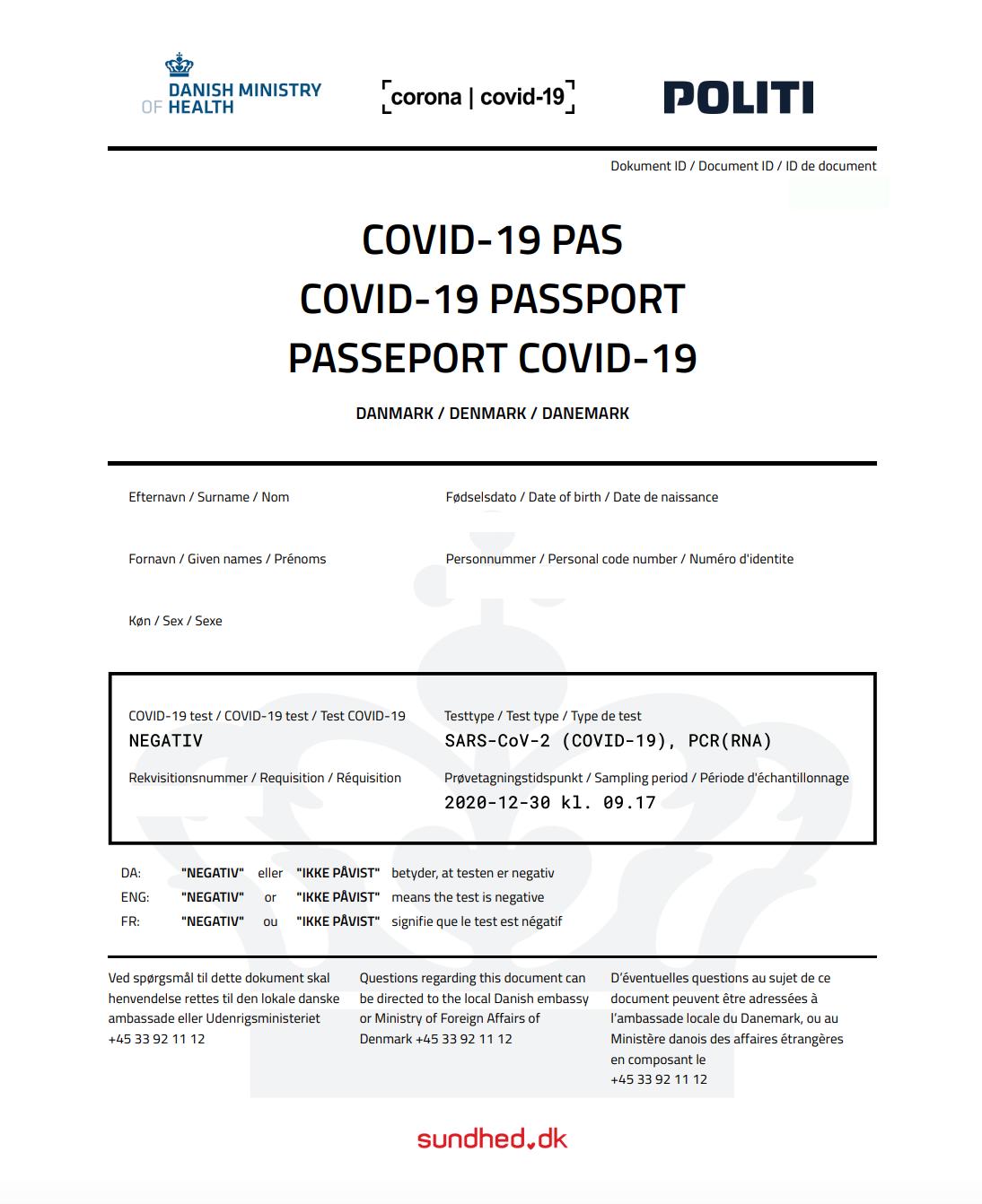 Denmark Introducing COVID 'Vaccine Passport'