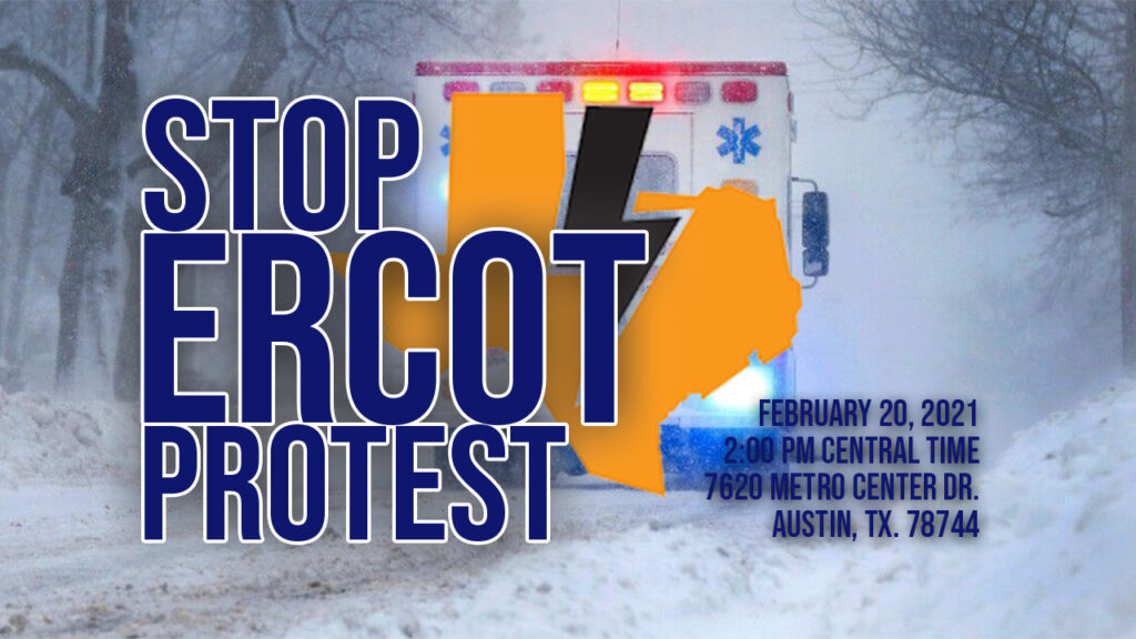 Texans Protest ERCOT/ENRON Power Scam