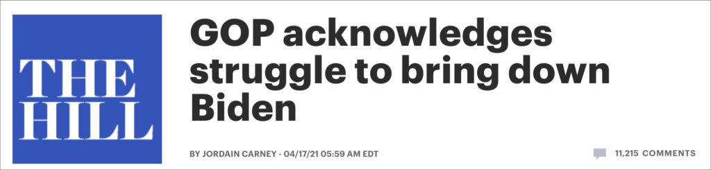 GOP Senators Admit Biden Walking Circles Around Them, Won't Attack Him Because He's A 'Nice Guy'
