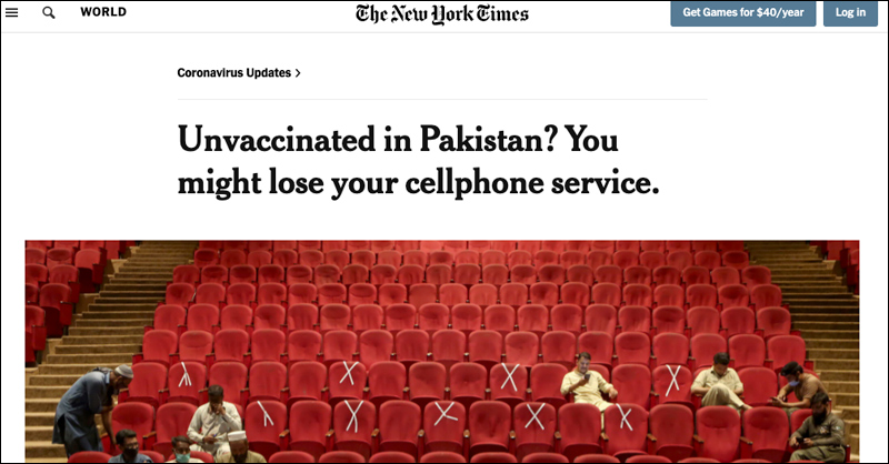 Thousands of Pakistanis Line Up for Vaccine After Gov't Shuts Down Cell Service for Unvaccinated Unvaccinated-134